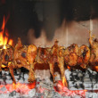 Grilled quails - Stock Photo