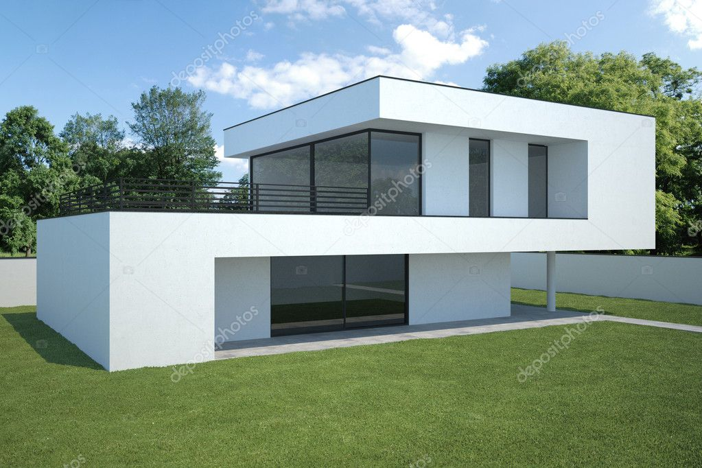 Modern house exterior stock photo anhoog 5487873