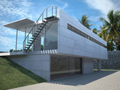 Modern house exterior — Stock Photo
