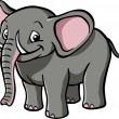 Stock Vector: Cute cartoon elephant