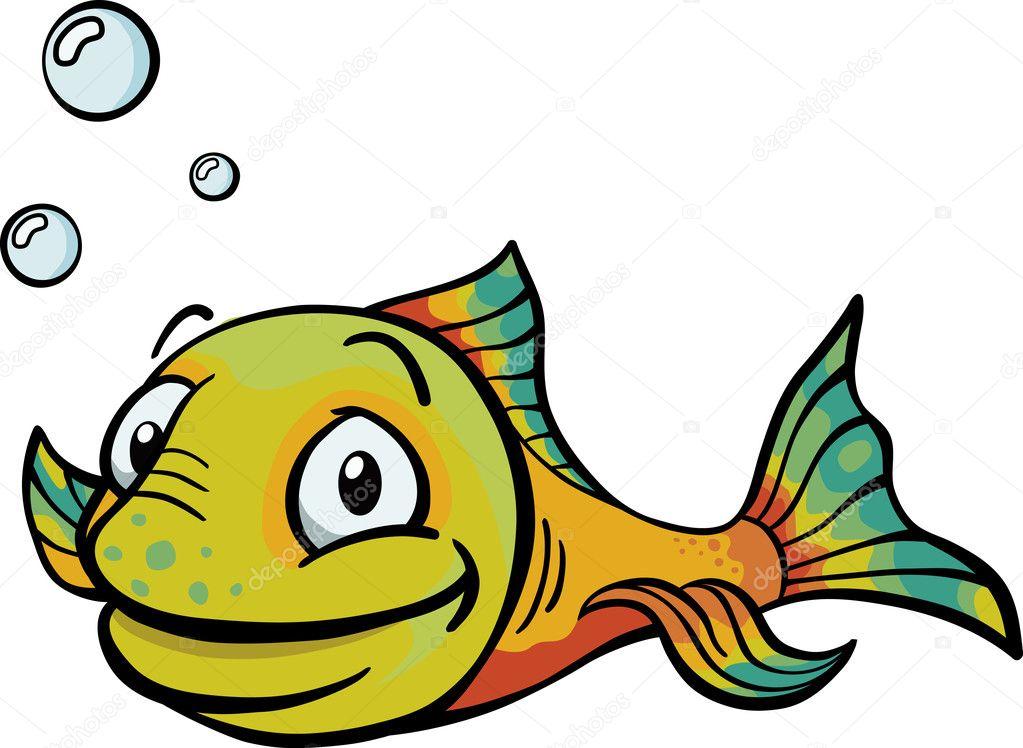 快乐卡通鱼 — 图库矢量图像08