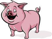 Cute cartoon pig — Stock Vector