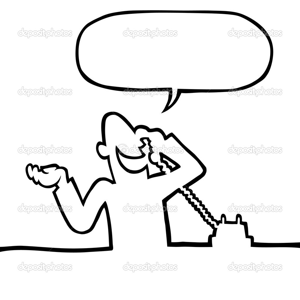 Person Calling On The Phone Stock Vector Noedelhap