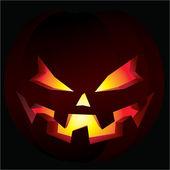 Spooky Halloween pumpkin — Stock Vector