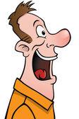 Male cartoon face profile — Stock Vector