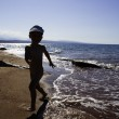 Kids playing on the beach — Stock Photo #5644265
