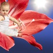 Angel baby on flower - Foto Stock
