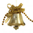 Golden Christmas bell — Stock Photo