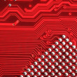 Red matrix background - Stock Photo
