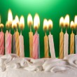 Birthday cake candles — Stock Photo