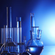 Chemical flasks with reagents — Stock Photo #5644628