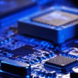 Close-up of electronic circuit board with processor — Stock Photo #5644911