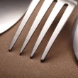 Stock Photo: Spoon, knife and fork