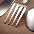 Spoon, knife and fork — Stock Photo