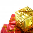 Gift box row  — Stock Photo