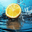 Stock Photo: Citrus in water