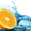 Stock Photo: Orange in water
