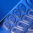 Telephone keypad in blue light — Stock Photo