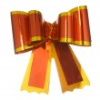 Red satin gift bow ribbon — Stock Photo #5646063