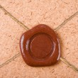 Empty sealing wax stamp - Stockfoto