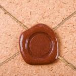 Empty sealing wax stamp — Stock Photo