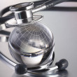 Stethoscope on globe — Stock Photo #5646404
