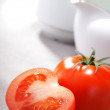Two tomatoes — Stock Photo