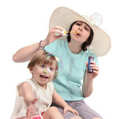 Child play bubble — Stock Photo