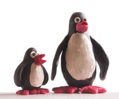 Hand made penguins — Stock Photo