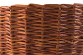 Texture of brown wicker basket — Stock Photo