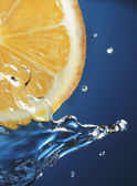 Lemon water splash — Stock Photo