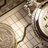 деньги и время — Стоковое фото