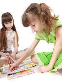 Girls paint — Stock Photo