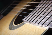 Classical acoustic guitar, close-up — Stock Photo