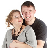Pregnant woman and her husband — Foto de Stock