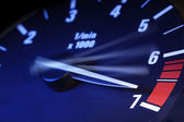 Tachometer on maximum level — Stock Photo