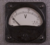 Retro voltmeter — Stock Photo