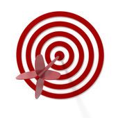 Arrow in the center of the target — Stock Photo