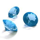 Blue diamonds — Stock Photo