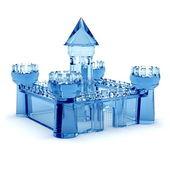 Blue glass castle — Stock Photo