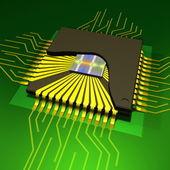 микро-чип — Стоковое фото