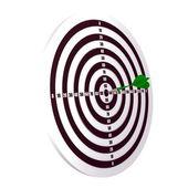 Darts on the white — Stock Photo
