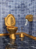 Costly golden toilet — Stock Photo