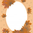 foto autumn frame of maple leaves — Stock Vector