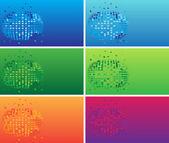 Cartes de visite couleur — Vecteur