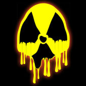 Radioactive Sign — Stockfoto