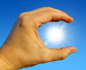 Sonne in der Hand — Stock Photo