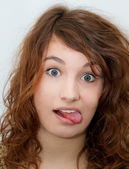 Tongue out — Stock Photo
