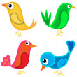 Four birds — Stock Photo