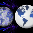 World global network (01) — Stock Photo